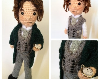 Eighth Doctor Who Amigurumi doll Crochet Pattern