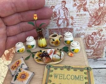 Sunflower Lot Dollhouse Ceramics