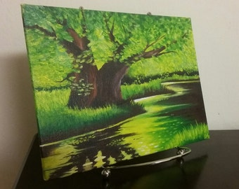 Acrylic Painting, Original Painting, Landscape Painting, Acrylic Landscape, Original Artwork, Original Art, Landscape, River Painting