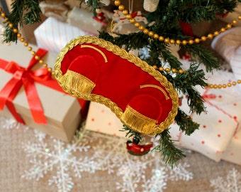 Christmas gift - Handmade Holly Golightly style sleep mask. Breakfast at Tiffany's (Audrey Hepburn) beautiful blindfold
