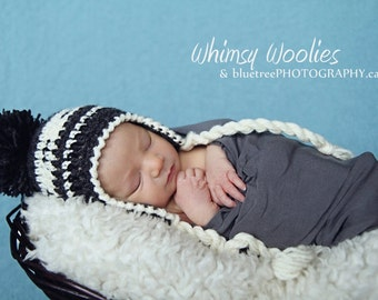 Baby Crochet Hat Pattern: 'Lil Papoose' 0-3mo, 6mo, 12mo, Native Inspired