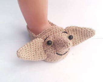 Harry Potter Dobby  baby  Slippers/Harry Potter Baby/Harry Potter nursery /Dobby shoes infant/Slippers/Harry shoes Size 0-12 Months,etsy.com