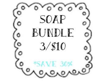 BEST SELLER - Choose your Favorite 3 Scents - Homemade Natural Soap - Vegan Friendly