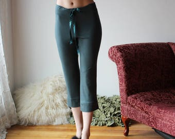 bamboo lounge pants in capri length for women - NOUVEAU bamboo sleepwear range - made to order