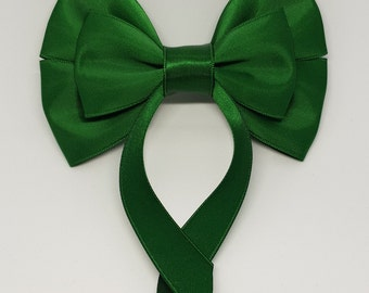 Forest Green Swallow Tail Hair Bow