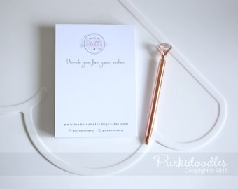 Notelet - customised with your company branding. Logo, Marketing, Notelets, Clients, Post, Thank You,