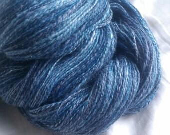 Lacunae paired skeins - 730yds total - laceweight handspun yarn - merino/bamboo/nylon