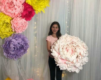 Giant Crepe Paper Peony (customize the size, color and quantity)