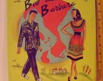Vintage Bob and Barbara Paper Doll Book