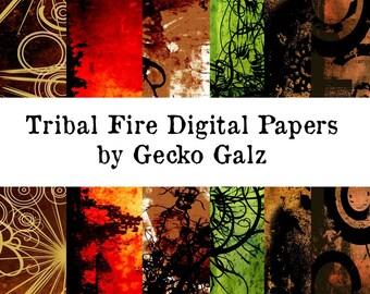 Tribal Fire Digital Mini Paper Pack