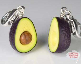 Avocado Charm Handmade miniature food jewelry - Hass variety!