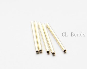 60 Pieces Raw Brass Tube 2x25mm with ID 1.4mm  (1684C-T-2)