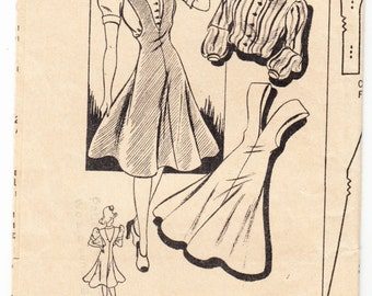 Vintage 1940s Mail Order 2785 Sewing Pattern Misses' Jumper and Blouse Size 13 Bust 31