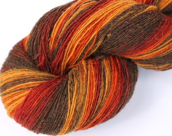 KAUNI Estonian Artistic Wool Yarn Rusty  8/1,  Laceweight Art Wool Yarn for Knitting, Crochet