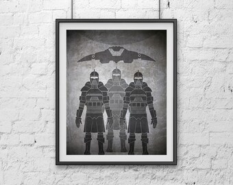 06-BSG Cylon Pilots Battlestar Galactica Poster Print