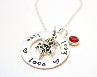 nurse necklace, nurse jewelry, rn necklace, rn jewelry, personalized nurse necklace, personalized rn necklace, rn gift, nurse gift, nurse