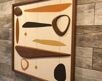 Mid Century Modern Witco Abstract Wall Art Sculpture Painting Atomic Retro Eames Era Mad Men - Rey