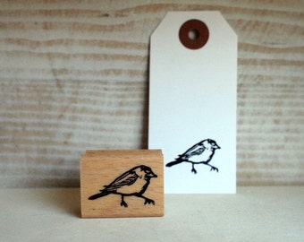 little titmouse - rubberstamp - 20x30mm