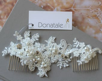 Bridal hair comb,  Wedding Hair comb,  Lace hair comb ,  Wedding hair piece ,  Bridal headpiece ,  Bridal hair accessories