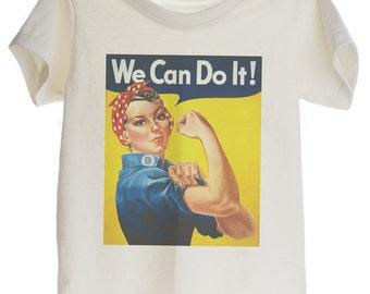 Vintage Poster Rosie the Riveter Organic T-shirt for Kids
