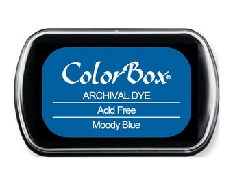 ColorBox Full Sized Archival Dye Acid Free Ink Moody Blue