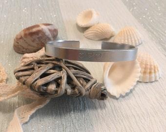 Secret Message Bracelet | Hidden Message Bracelet | Personalised Bracelet | Hand Stamped Cuff | Gift For Women | Gift For Her