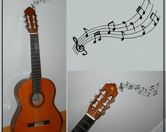 Sticker sheet music for an original wall decoration!