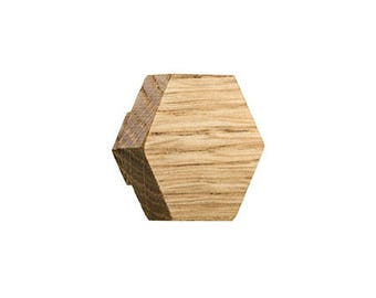 miniHexa oak knobs and hangers,  cabinet knobs and pulls, drawer pulls, hook, variety of colours