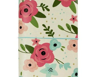 Simple Stories - Carpe Diem - Bloom Collection - Traveler's Notebook - Cream Blossom - Journal your Praise!