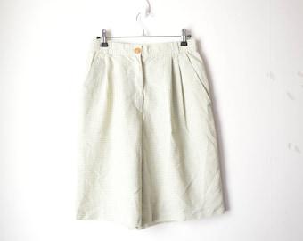 green checked high waist short 70s // 38