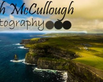 Cliffs of Moher, Eye in the Sky, Irish Decor, Fine Art Photo Print, Wall Art