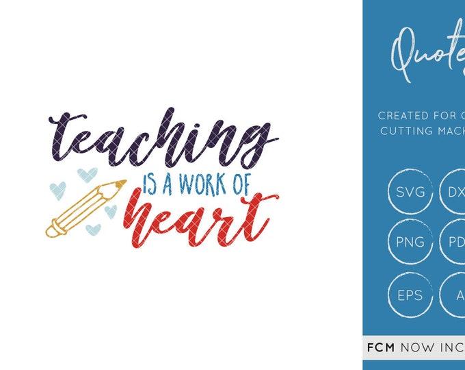 Teacher SVG Cut File