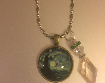 Handmade Starry Necklace with Pendant