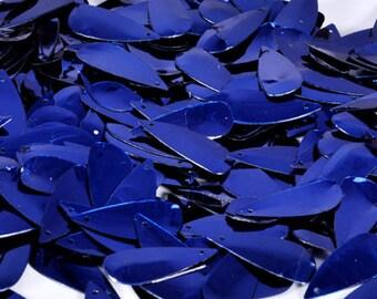 75 pcs  sequins.......Blue color Oval Drop shape/KBOS356