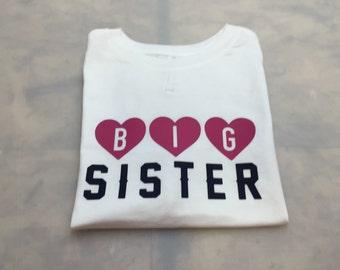 Big Sister Shirt/Big Sister/Toddler Shirts/Pregnancy Announcements/Gift Ideas/Big Sister Shirts