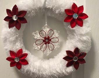 Snowflake and Poinsettias