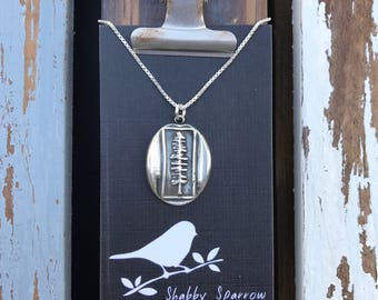 Sitka Silver Wax Seal Stamp Necklace