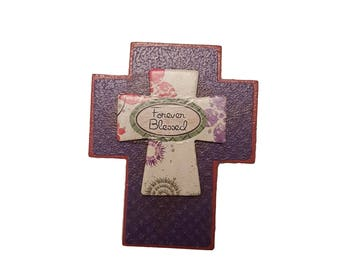 Forever Blessed Decorative Wooden Cross magnet