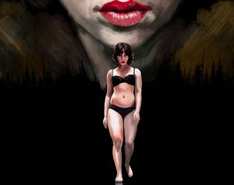 Original Scarlett Johansson Under the Skin Art Print