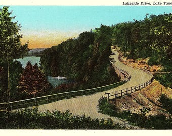 Lake Taneycomo, Lakeside Drive, Missouri - Postcard - Vintage Postcard - Unused (CC)