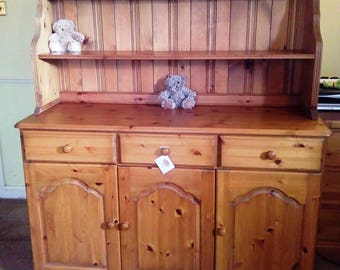 Solid Pine Chiffonier / Sideboard / Welsh Dresser Shelves Display