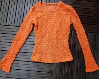 couture crochet spandex shirt lace