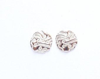 Sterling circuit board earrings, post earrings, 15 mm charms, geekery jewelry, engineering accessories