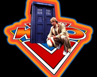 80's TV Classic Doctor Who #5 Peter Davison custom tee Any Size Any Color