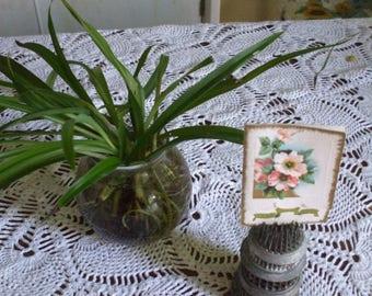 Vintage Metal Flower Frogs (4)