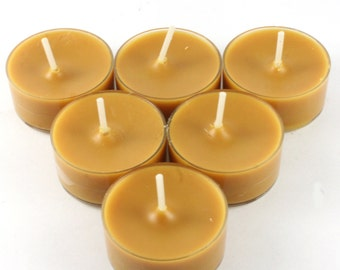 Sandalwood & Black Pepper Handmade Premium Quality Highly Scented 6 Tea Light Candles