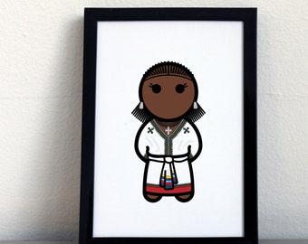 Card 029·F  Tigray woman from Ethiopia