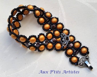 "bracelet ""Mae"" copper and black"