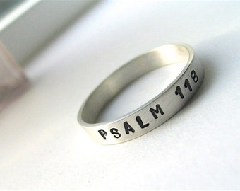 His or Hers personalized stamped sterling silver ring - made to order