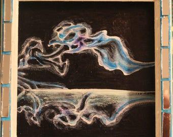 Smoke and Mirrors, mixed media original art work